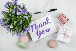 """A simple """"thank you"""" goes a long way"""